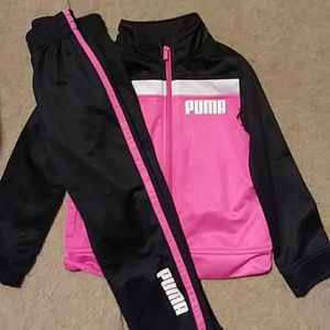 Puma girls track suit